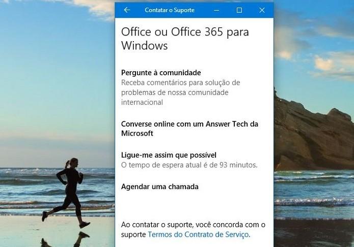 Novo aplicativo de suporte do Windows 10 (Foto: Felipe Alencar/TechTudo) (Foto: Novo aplicativo de suporte do Windows 10 (Foto: Felipe Alencar/TechTudo))
