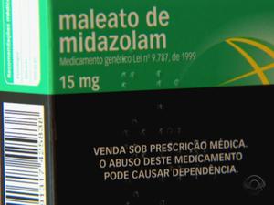 Midazolam é usado como sedativo e diminui a capacidade respiratória (Foto: Reprodução/RBS TV)