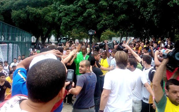 basquete kobe bryant aterro do Flamengo (Foto: Matheus Tibúrcio)