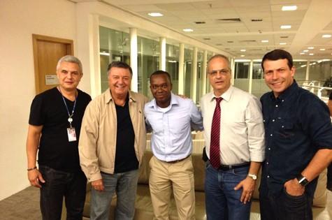 Time de comentaristas de arbitragem da Globo na Copa (Foto: TV Globo)