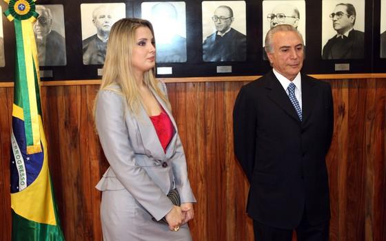 Michel Temer e Marcela Temer (Foto: Agência O Globo)