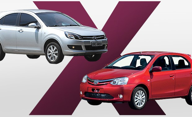 JAC J3S vs Toyota Etios: qual comprar? (Foto: Autoesporte)