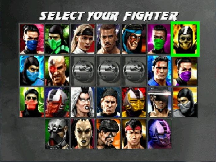 O imenso número de personagens de Ultimate MK 3 (Foto: Divulgação)