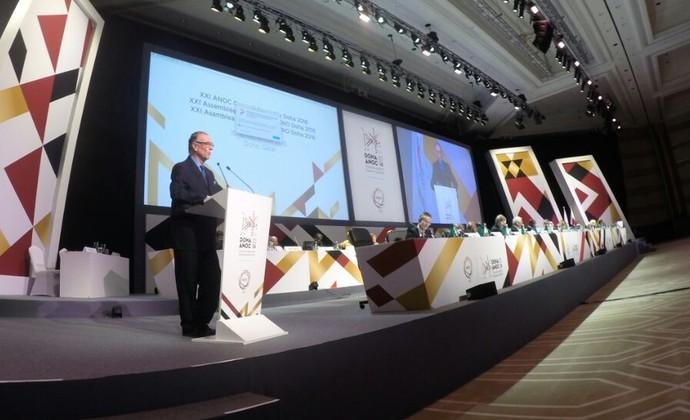 Apresentação Nuzman em Doha (Foto: João Gabriel Rodrigues)