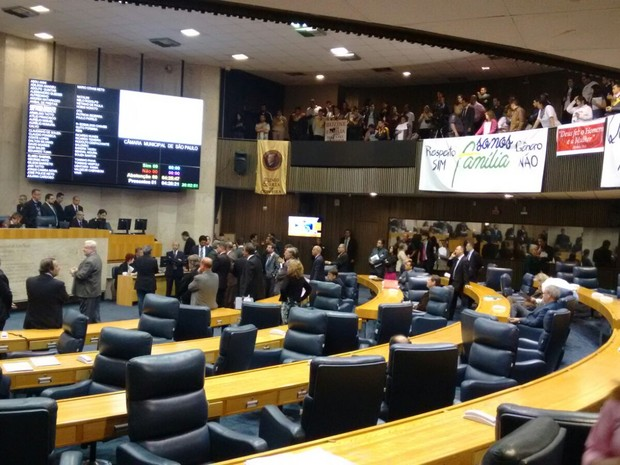 Vereadores aprovaram plano na noite desta terça-feira (Foto: Roney Domingos/G1)
