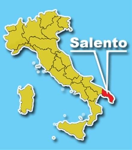 Salento, às margens do Mediterrâneo, fica bem no 'salto da bota'