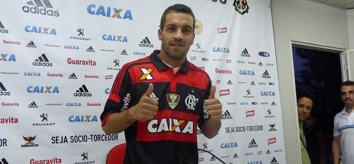 Apresentação Canteros Flamengo (Foto: Globoesporte.com)