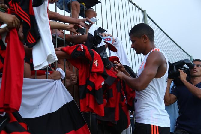 Márcio Araújo - Flamengo - treino em Natal (Foto: Alexandre Lago/GloboEsporte.com)