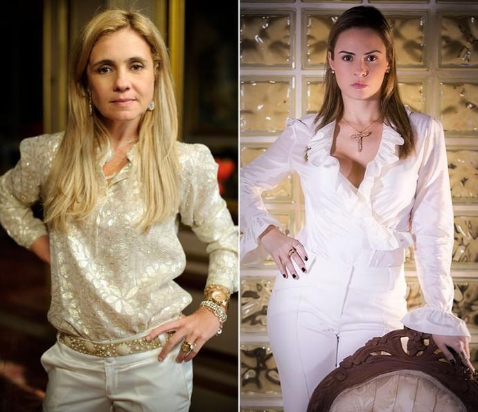 Compare a personagem Carminha e Ana Paula, do BBB16 (Foto: Rede Globo/Alex Carvalho e Raphael Dias/Gshow)