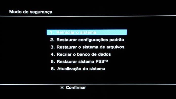 Use o modo de segurança para resolver problemas de travamento do PS3 (Foto: Reprodução/Tais Carvalho)