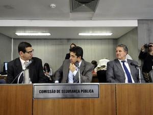 Comissão de Segurança Pública debate as irregularidades e ilegalidades imputadas aos diretores do Presídio de Nova Serrana (Foto: ALMG/Divulgação)