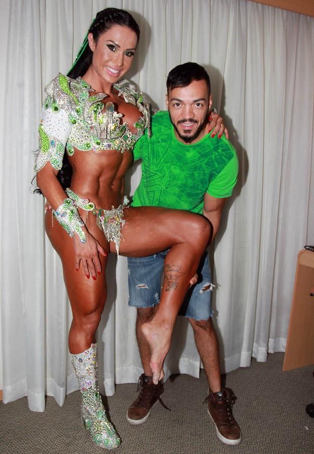 Belo e Gracyanne (Foto: Celso Tavares/ EGO)