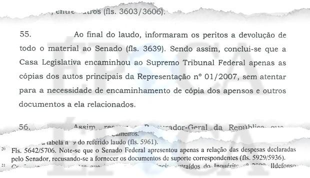 Documentos sonegados (Foto: Reprodução)