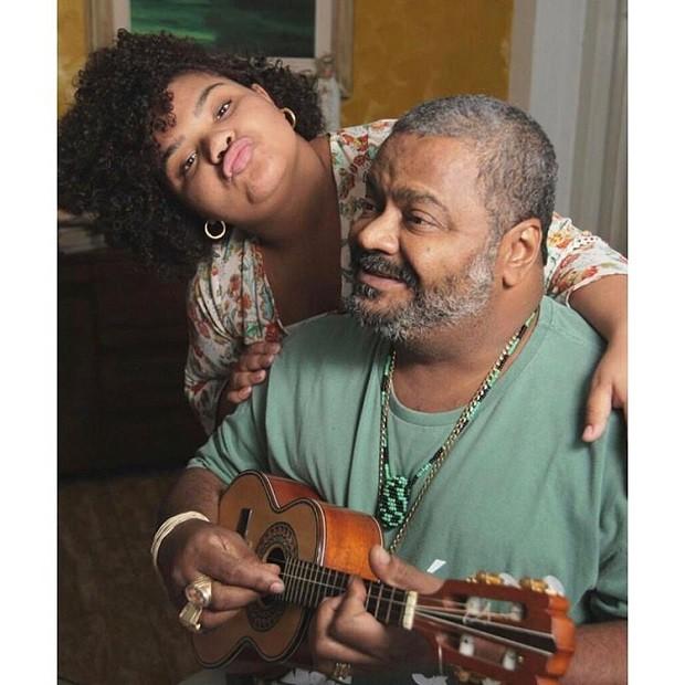 Arlindo Cruz e a filha, Flora (Foto: Reprodução/Instagram)