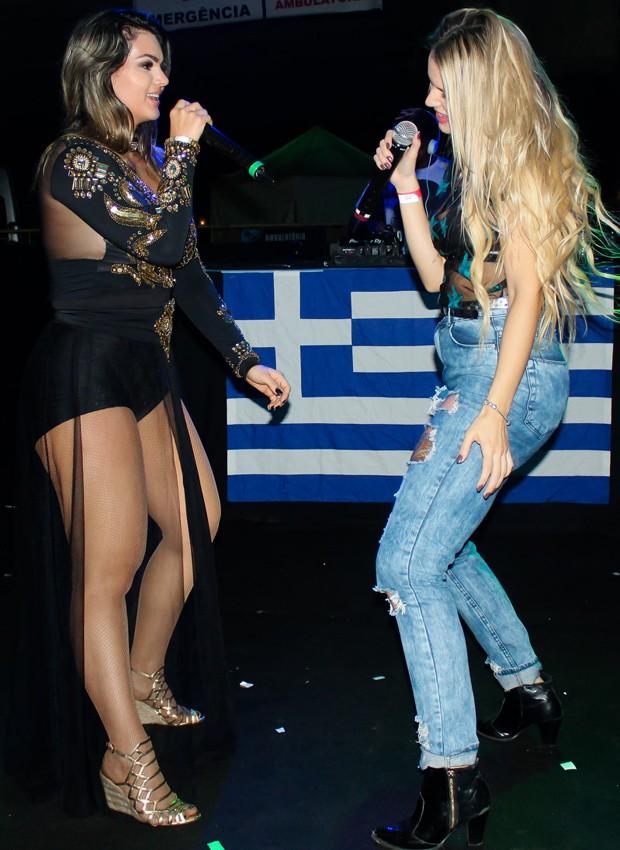 Kelly Key e a cantora Francinne se apresentam no espaço de eventos Nos Trilhos (Foto: Rodrigo Sanchez/Brazil News)