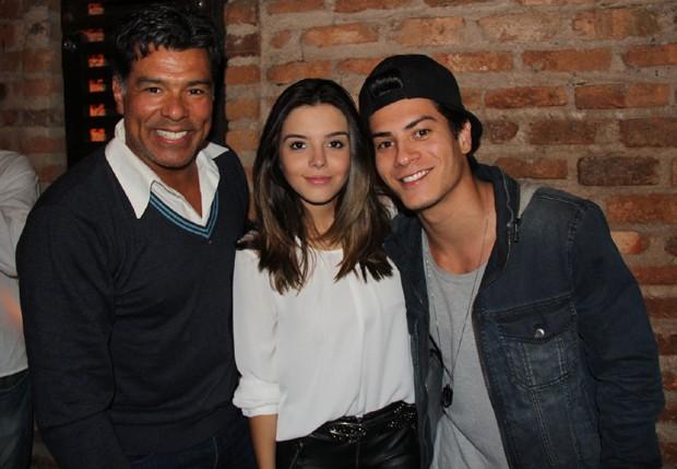Maurício Mattar, Giovanna Lancellotti e Arthur Aguiar (Foto: Rogério Fidalgo/AgNews)