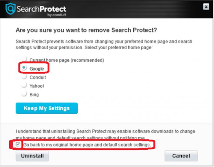 Desinstalação do Search Protect  (Foto: Reprodução/ Marcela Vaz)