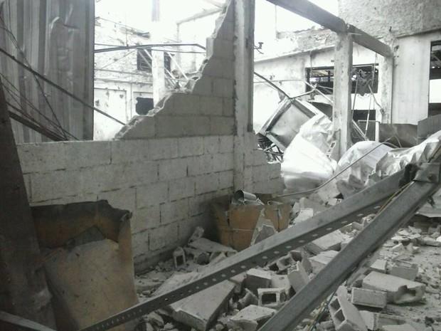Explosão fábrica em Divinópolis (Foto: G1 / G1)