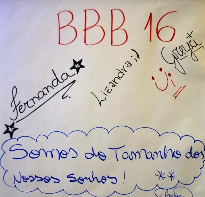 Aspirantes a sister deixam mensagem sobre o BBB16 (Foto: Gshow)