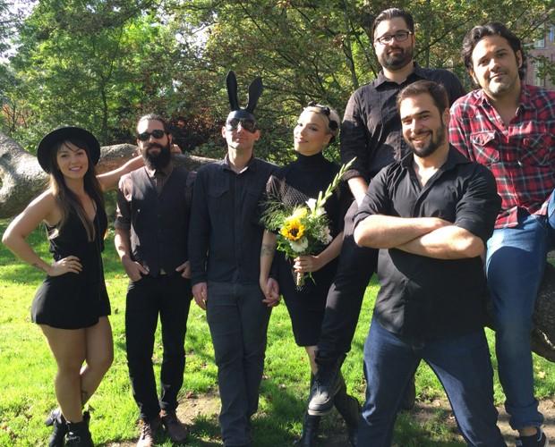 Kita reunida em casamento de vocalista e guitarrista (Foto: Arquivo Pessoal)