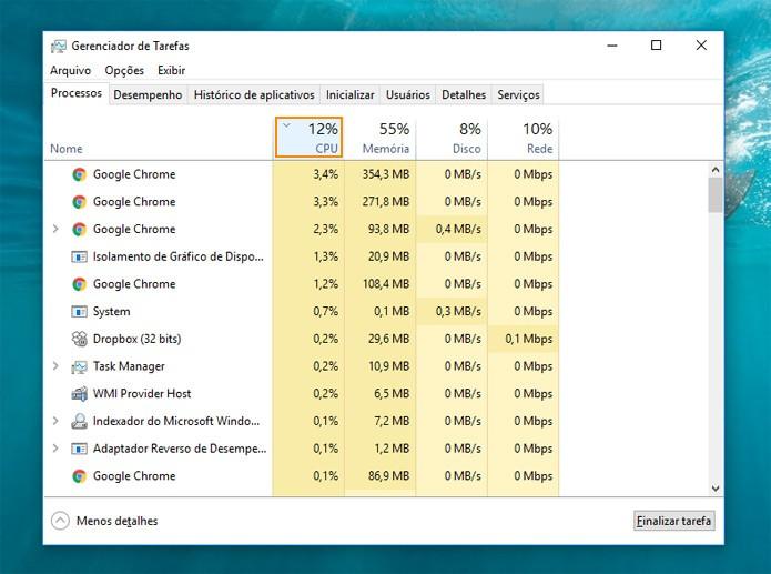 Aproveite, e veja também quais apps mais consomem da CPU (Foto: Reprodução)