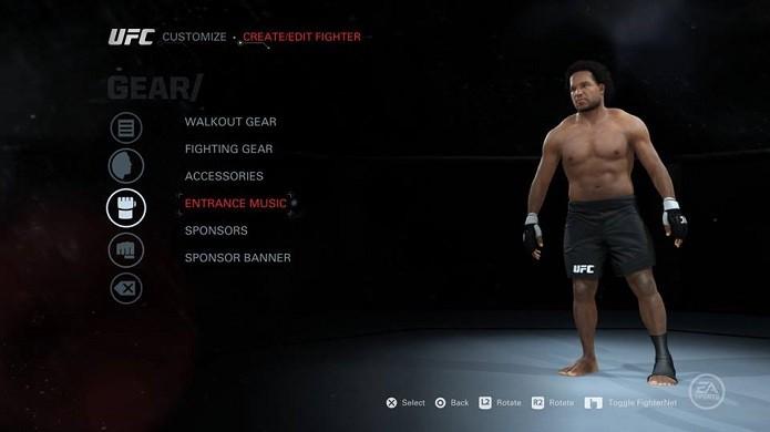 Mude também a música do seu lutador (Foto: Thiago Barros/Reprodução)