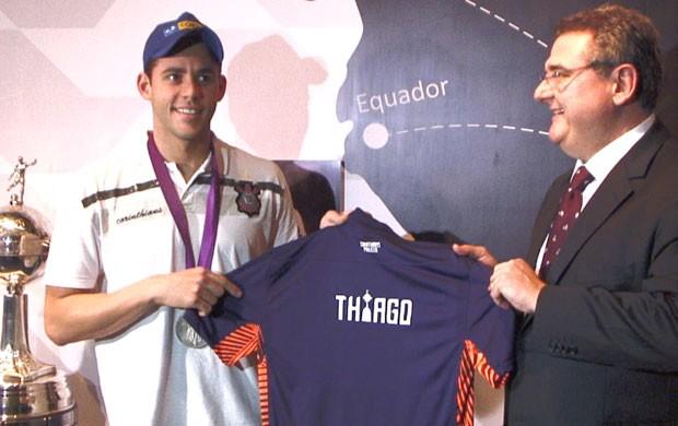 Thiago Pereira no Corinthians (Foto: Cassio Barco / Globoesporte.com)