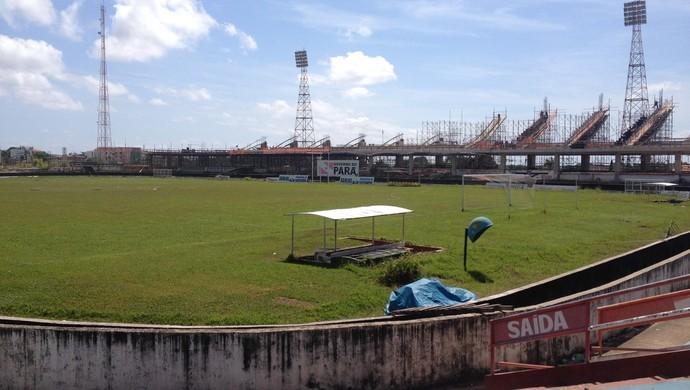 estádio Colosso do Tapajós (Foto: Gustavo Campos/GloboEsporte.com)