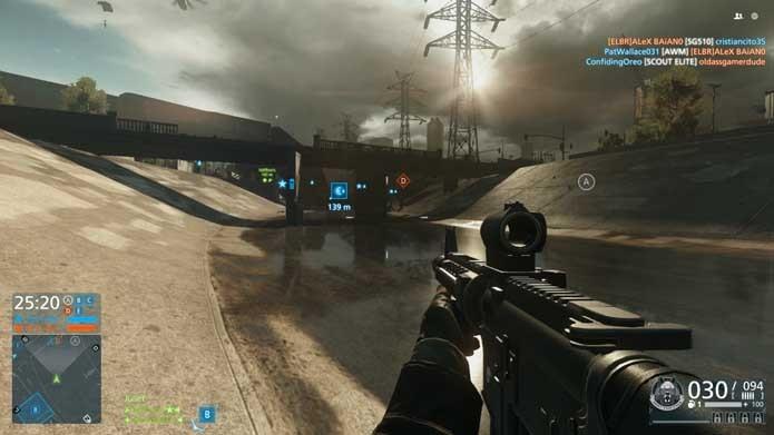 Battlefield: Hardline: multiplayer parece borrado quando comparado ao do novo game (Foto: Reprodução/Murilo Molina)