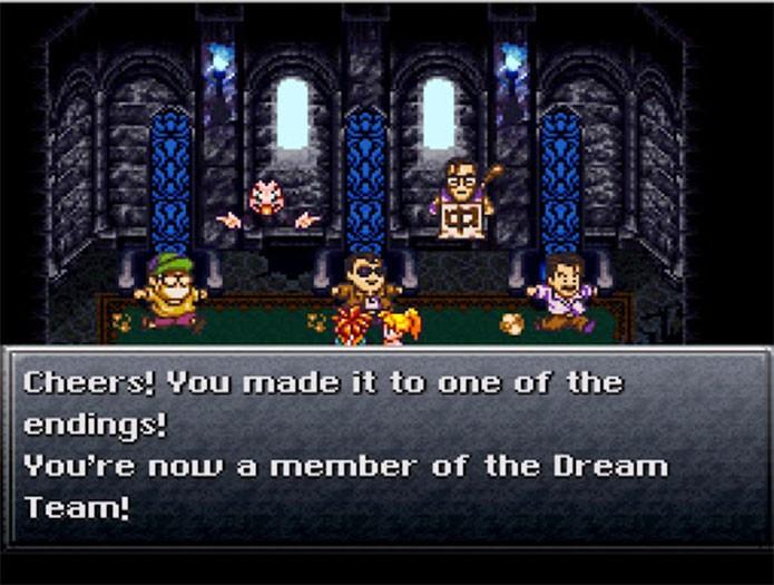 Um dos finais de Chrono Trigger tinha encontro com os produtores (Foto: Reprodução/YouTube)