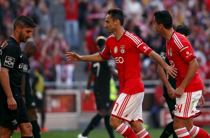 Jonas gol Benfica x Acadêmica (Foto: REUTERS/Hugo Correia)