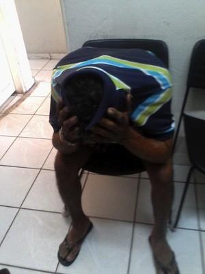 Pedreiro foi preso nesta terça-feira (3) em São Gonçalo do Amarante (Foto: Rafael Barbosa)