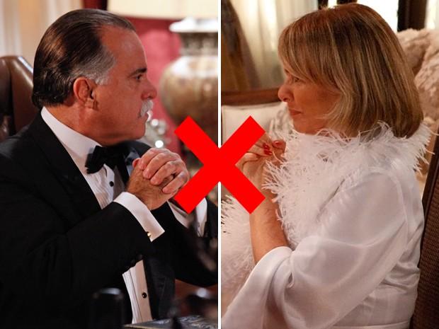 Amor ou ódio? Tony Ramos e Irene Ravache viverão a dupla que mais se detesta em Guerra dos Sexos (Foto: Guerra dos Sexos/ TV Globo)