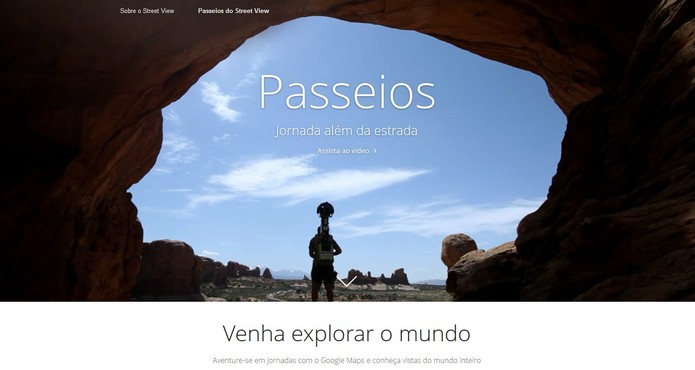"""Conheça a página de """"aventuras"""" do Google Street View (Foto: Divulgação/Google)"""