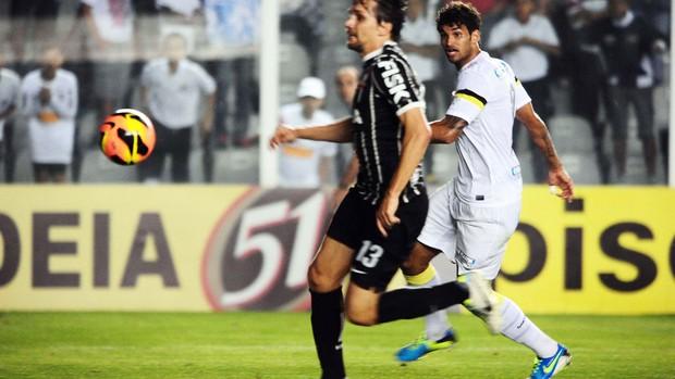 Willian José gol Santos x Corinthians (Foto: Marcos Ribolli / Globoesporte.com)