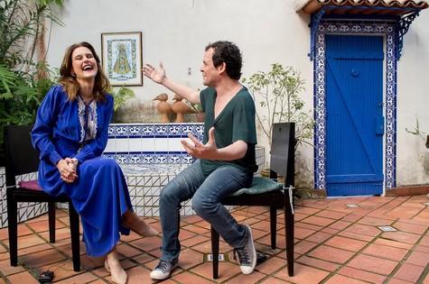 Matheus Nachtergaele é o entrevistado de Simone Zuccolotto (Foto: Divulgação)