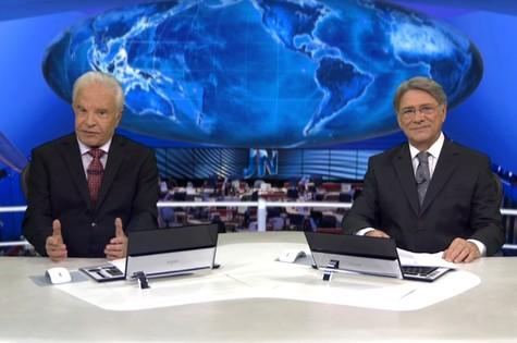 Cid Moreira e Sérgio Chapelin (Foto: Reprodução)
