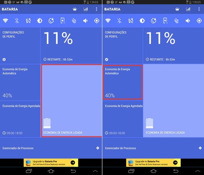 App age com autonomia no modo automático para poupar bateria do dispositivo. Foto: Reprodução/Techtudo