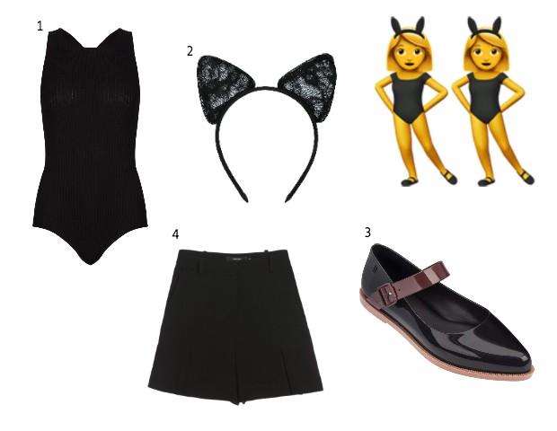 1. Body Amaro, R$169; 2. Tiara Serpui, R$250, na FarFetch; 3. Sandália Melissa, R$130; Shorts Amaro, R$129 (Foto: Divulgação)