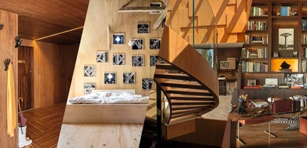 Madeira além do piso: 9 ideias para usar o material em casa (Foto: Casa Vogue)