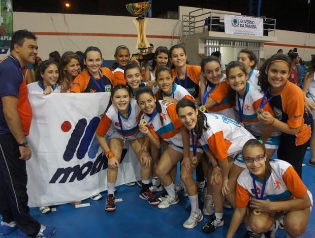 Apcef-Motiva 24 x 18 Pinheiros (final do Brasileiro de handebol feminino infantil) (Foto: Cadu Vieira / Globoesporte.com/pb)