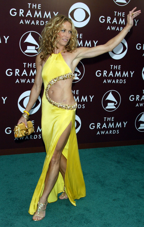 Parece que o vestido de Sheryl Crow no Gramy de 2005 teve um pedaço arrancado por uma mordida. (Foto: Getty Images)