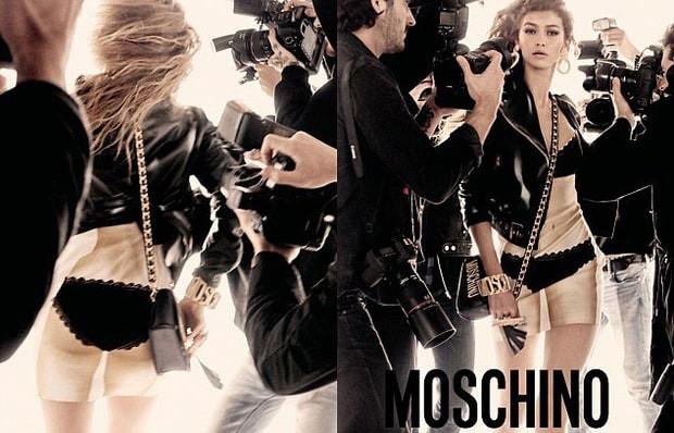 Gigi Hadid (Foto: Reprodução/Moschino)