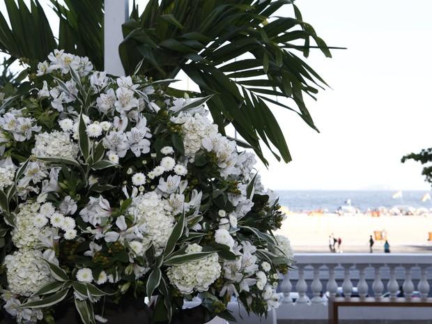 Flores enfeitam o ambiente (Foto: Inácio Moraes/TV Globo)