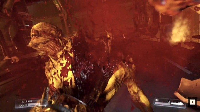 A serra elétrica é capaz de partir monstros mais fracos com um único golpe no novo Doom (Foto: Reprodução/Doom Wiki)