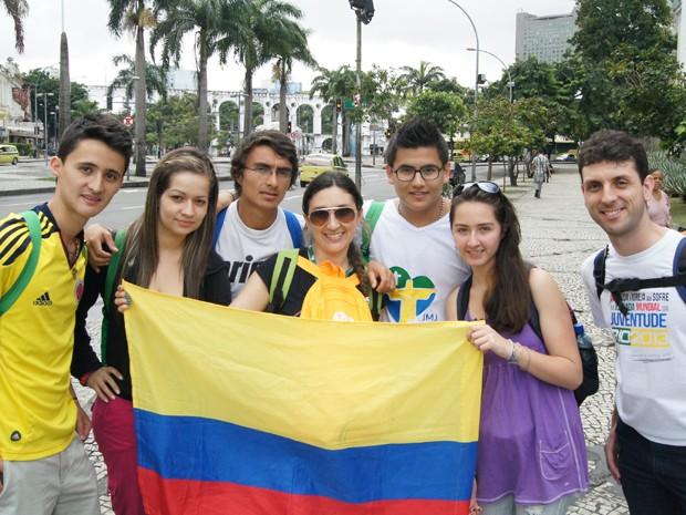Voluntários da Colômbia estão hospedados na Ilha do Governador (Foto: Andressa Gonçalves/G1)
