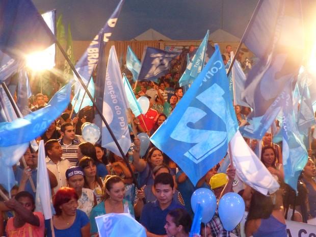 Candidaturas foram oficializadas em convenção realizada em Macapá (Foto: Dyepeson Martins/G1)