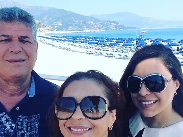 Lourenço, Mara e Lorena em Nice (Foto: Arquivo pessoal)