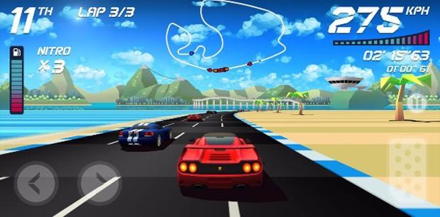 Do estúdio gaúcho Aquiris, 'Horizon Chase' homenageia clássicos de corrida como 'Top Gear' (Foto: Divulgação/Aquiris)