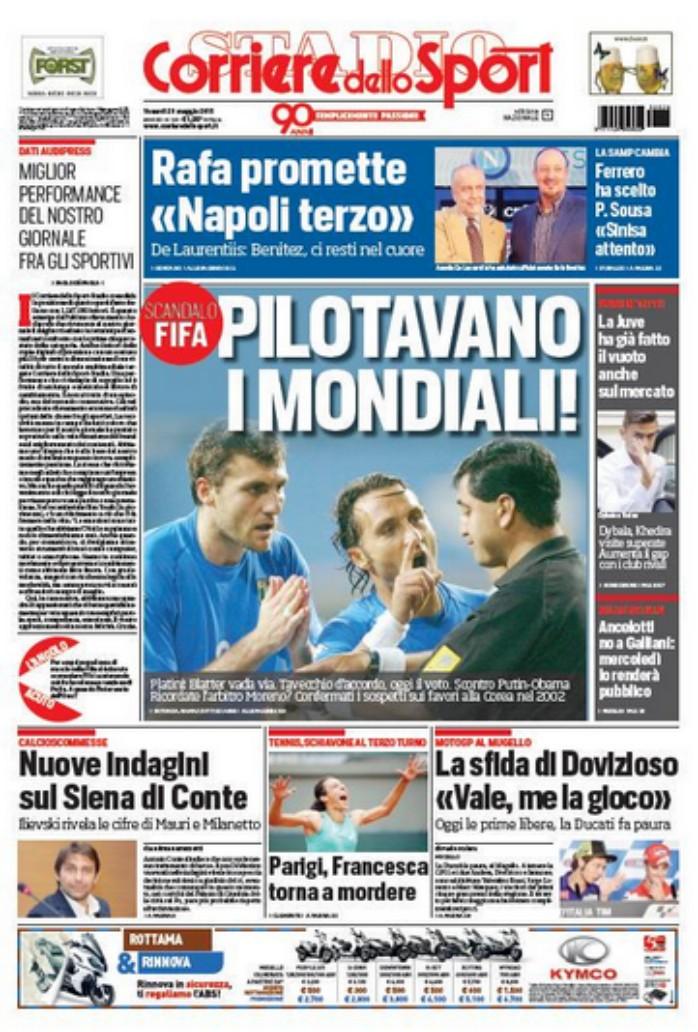 BLOG: Jornal diz que investigações na Fifa devem revelar escândalo na Copa-2002